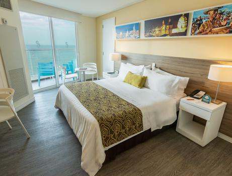 Standard Room King Bed Ocean View Relax Corales de Indias Hotel GHL Cartagena